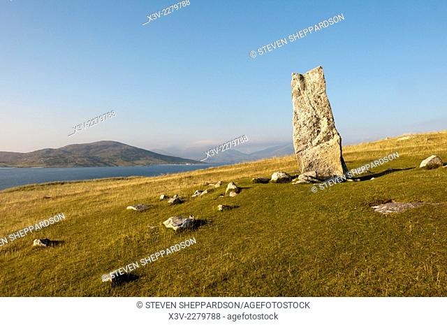 Europe, Scotland, Outer Hebrides, Isle of Harris - Clach Mhic Leoid or MacLeod's Stone