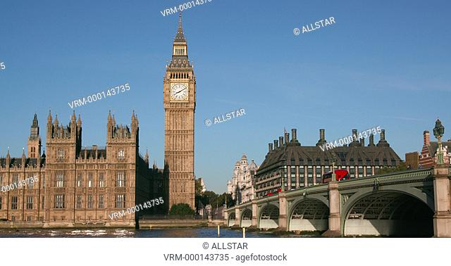 PALACE OF WESTMINSTER & BIG BEN; LONDON, ENGLAND; 23/09/2016