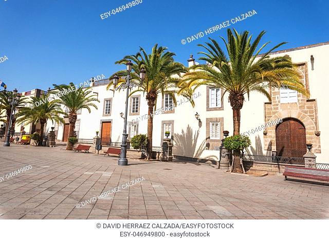 Las Palmas de Gran Canaria, Spain. Urban landscape, colonial houses in Vegueta