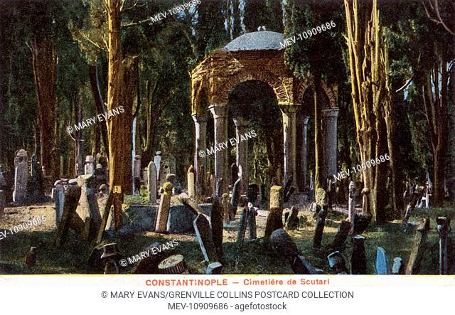 The cemetery at Scutari, on the Asian side of the Bosphorus, Constantinople