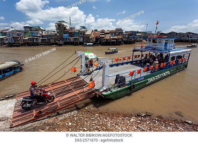 Vietnam, Mekong Delta, My Tho, Mekong River Ferry