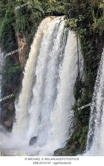 A view from the upper trail, Iguazú Falls National Park, Misiones, Argentina, South America