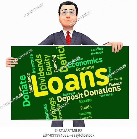 Loans Word Showing Borrow Wordcloud And Text