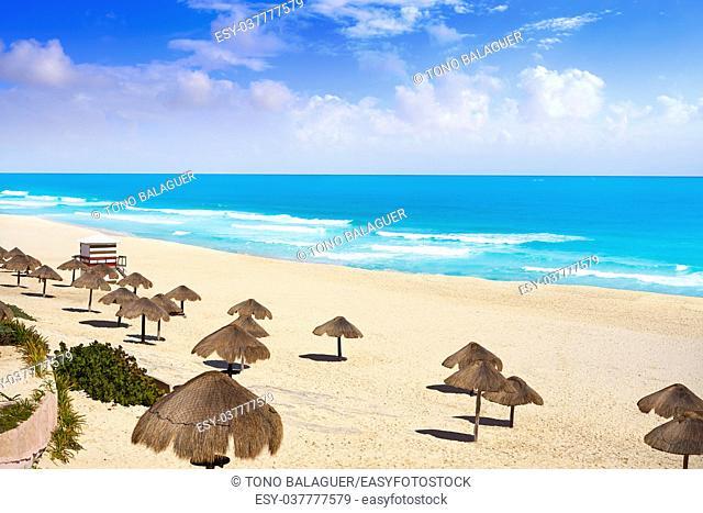Cancun Playa Delfines beach in Riviera Maya of Mexico
