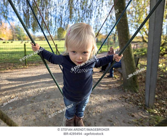 Toddler in the playground, Ueberlingen, Germany