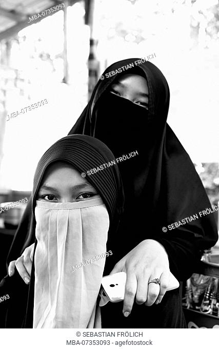 Young Muslim women on Pulau Weh in Aceh, Indonesia