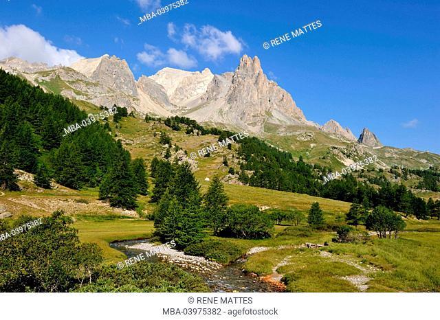 France, Hautes-Alpes, Brainconnais area, Valley of La Claree
