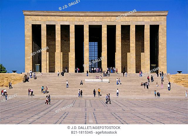 Turkey, Ankara, the 'Anitkabir' Atatürk Mausoleum in the Maltepe area, at Ankara