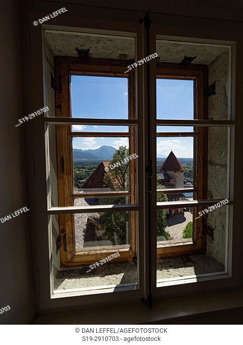 Slovenia Lake Bled Castle Window