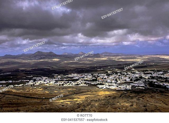 Teguise - a view from volcano / Lanzarote / Canary Islands