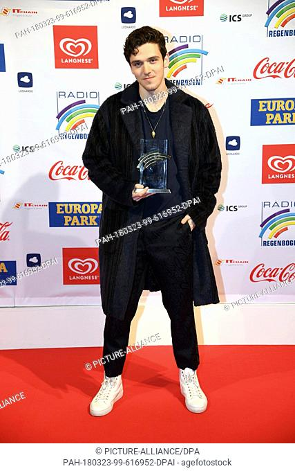 23 March 2018, Germany, Rust: Musician Lauv attends the ceremony of the Radio Regenbogen (lit. rainbow) Awards at the theme park Europa-Park