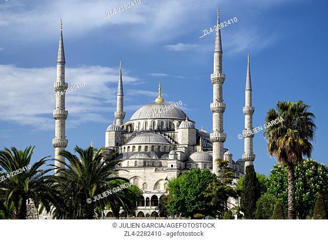 Blue Mosque (Sultanahmet Camii). Turkey, Istanbul, Sultanahmet district