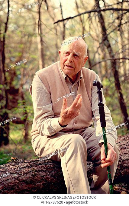 Europe,Italy ,Tuscan Emilian Apennines, Fabio Clauser, founder of the first nature reserve in Italy, Sassofratino forest