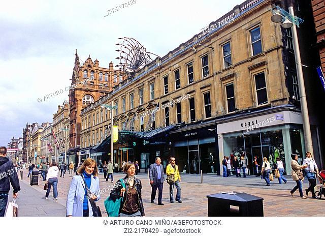Buchanan Street. Glasgow, Scotland, United Kingdom