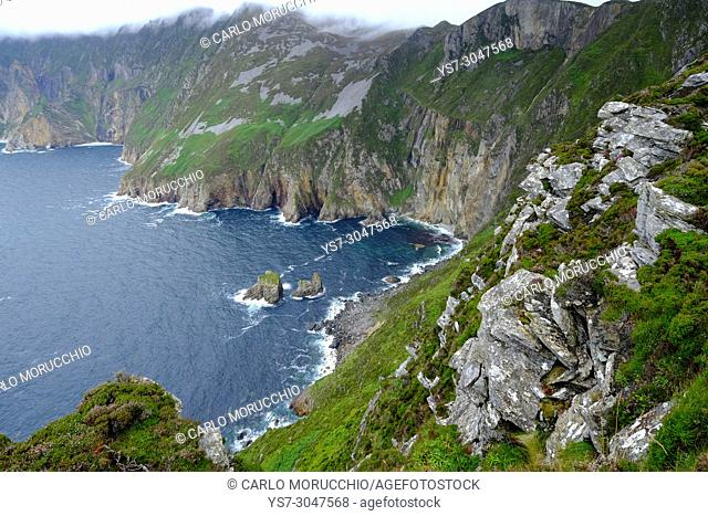 Slieve League's cliffs, County Donegal, Ireland, Europe