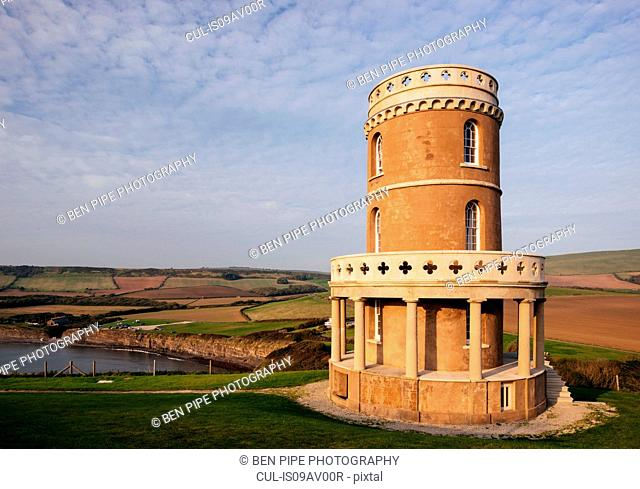 Clavell Tower at Kimmeridge bay, Dorset, UK