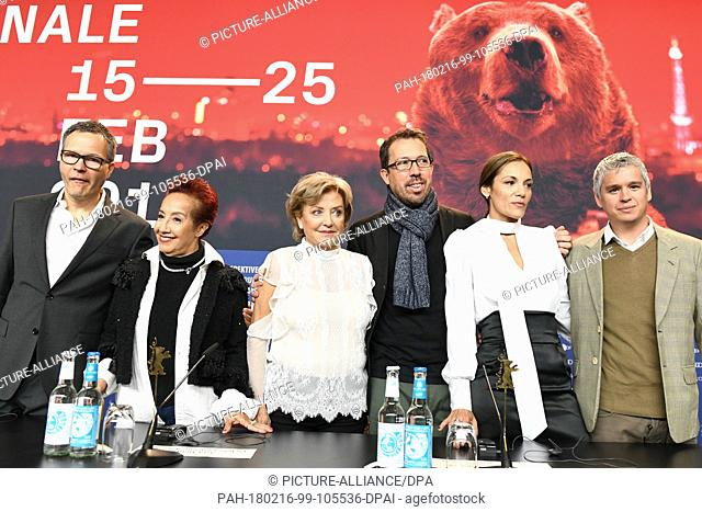 16 February 2018, Germany, Berlin: Berlinale 2018, press conference, 'Las Herederas' (The Heiresses): Manager Christoph Friedel (L-R), actress Margarita Irun
