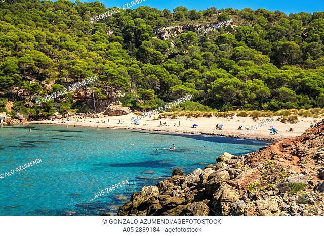 Cala Algaiarens Beach. Es Bot beach. Ciutadella de Menorca Municipality. Minorca. Balearic Islands. Spain
