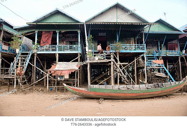 Life in the floating village of Kampong Phluk near Siem Reap, Cambodia