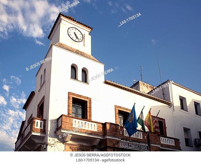Ayuntamiento in Aroche, Sierra de Aracena y Picos de Aroche, Huelva province, Andalusia, Spain
