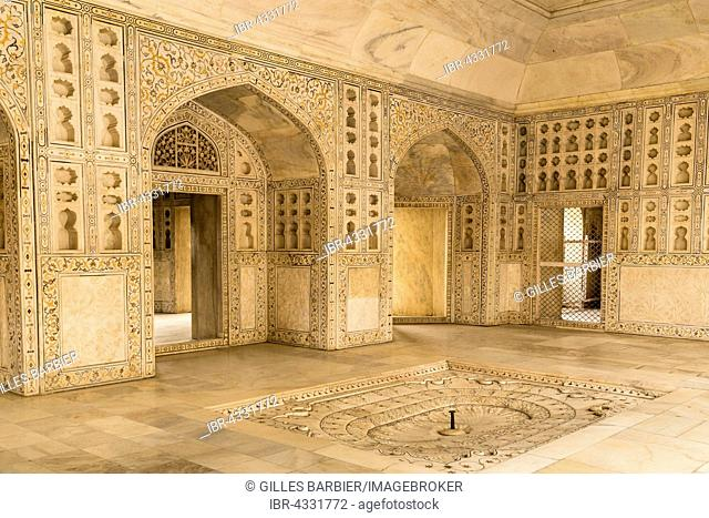Inside the Red Fort, Agra, Rajasthan, India
