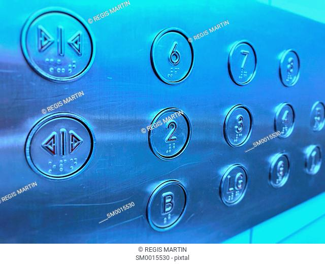 Buttons in an elevator