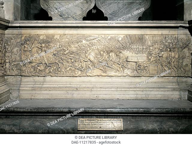 Battle of Marignano, September 1515, detail from Francis I and Claude de France's tomb, 1548, by Philibert de l'Orme (1510-1570) and Pierre Bontemps (1505-1568)