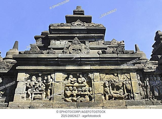 Indonesia-Java-Borobudur, Panels on the East-3rd Terrace/gallery