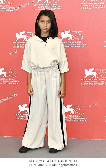 Ludovica Nasti during 'L'amica geniale' photocall, 75th Venice International Film Festival, Italy - 02 Sep 2018