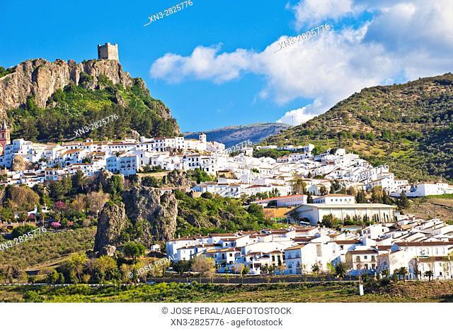 Zahara de la Sierra, Parque Natural, Natural Park Sierra de Grazalema, White Towns, Pueblos Blancos, Cadiz province, Andalusia, Spain, Europe