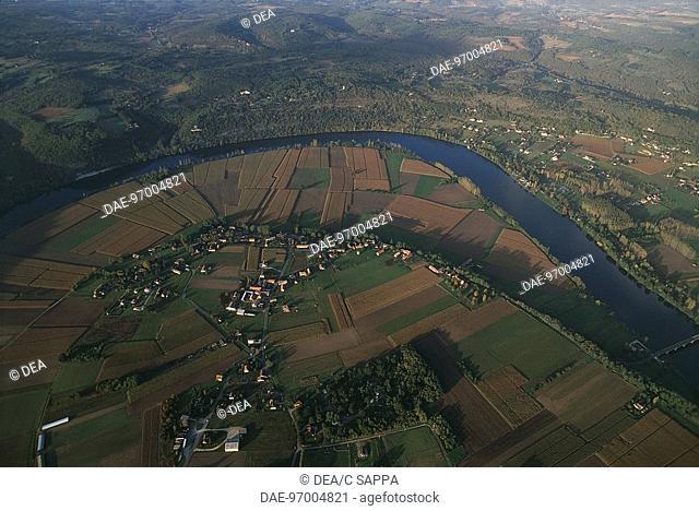 France - Aquitaine. Dordogne River bends at Trémolat