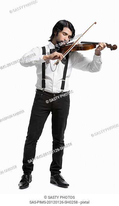 Musician playing a violin