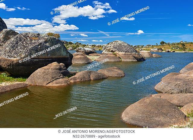 Los Barruecos Natural Park. Natural Monument, Malpartida de Caceres, Cáceres province, Spain