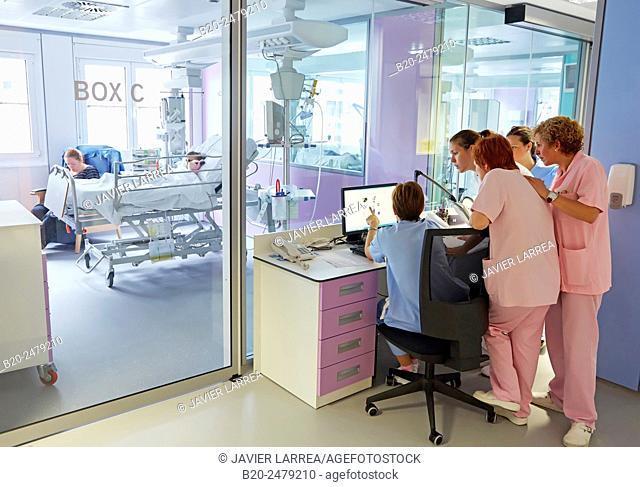 Medical care, Neonate Intensive care Unit, ICU, Hospital Donostia, San Sebastian, Gipuzkoa, Basque Country, Spain