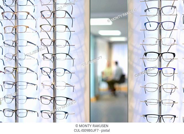Patient consultation at small business opticians