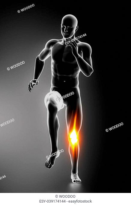 Knee Pain Knee Injuries concept