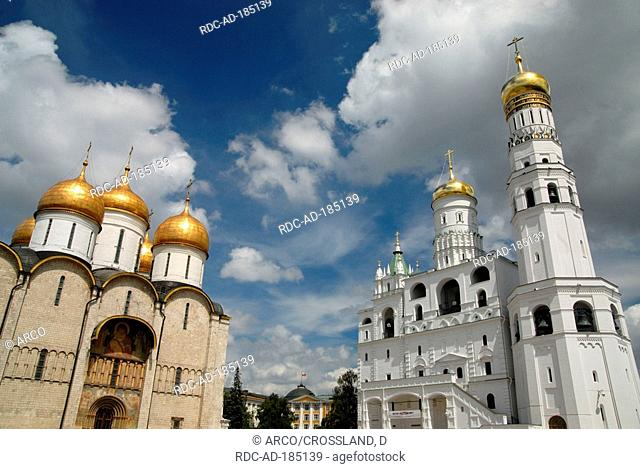 Annunciation Cathedral, bell tower, Kremlin, Moscow, Russia