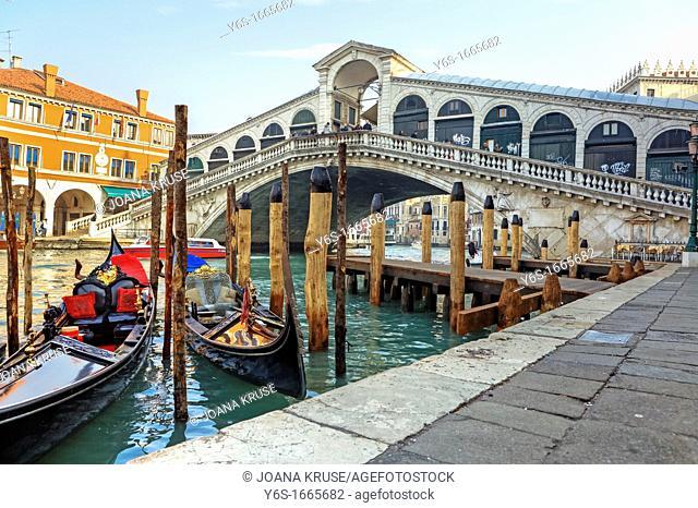 Grand Canal, Rialto Bridge, Venice, Veneto, Italy