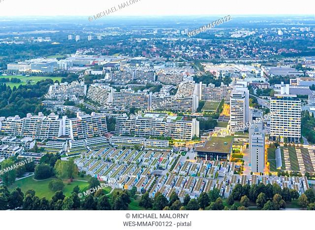 Germany, Bavaria, Munich, view over the Olympic Village