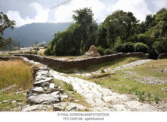 Footpaths between villages in the Pokhara Valley - Dhampus Village, Gandaki Zone, Nepal