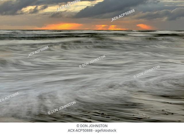 Kalaloch beach near sunset, Olympic National Park, Washington, USA