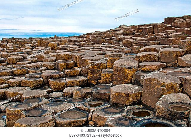 famous Giants Causeway in Northern Ireland (UNESCO World Heritage Site)