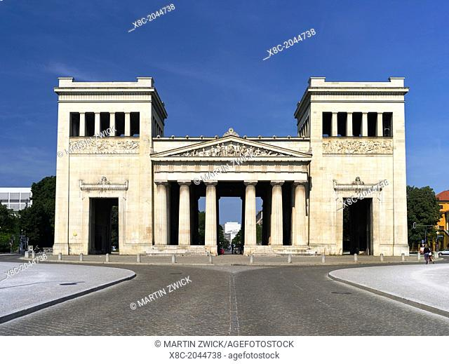 The Propylaea near Konigsplatz in Munich. The Propylaea have been commisioned by King Ludwig the first and buildt by Leo von Kleinze
