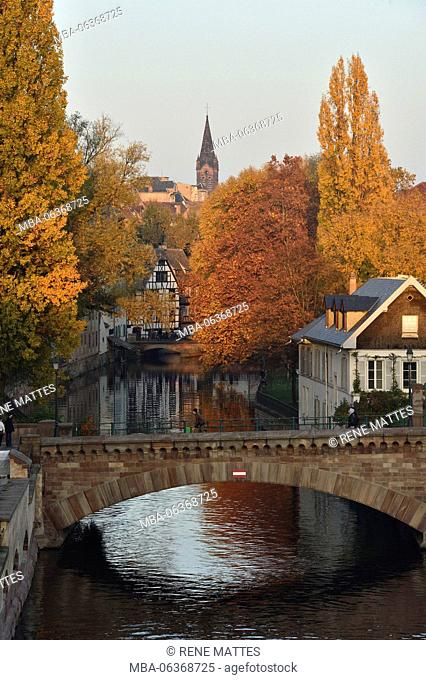 France, Bas Rhin, Strasbourg, old town listed as World Heritage by UNESCO, the Petite France District