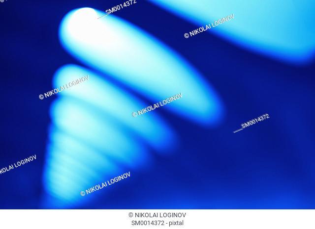 Diagonal blue office lamps bokeh background hd
