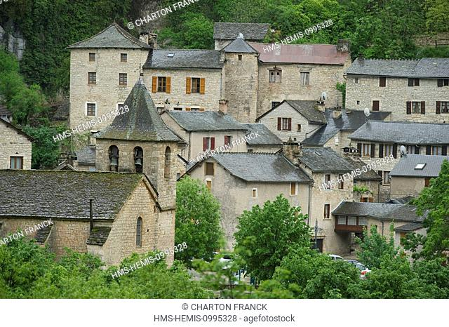 France, Lozere, the Causses and the Cevennes, Mediterranean agro pastoral cultural landscape, listed as World Heritage by UNESCO, Gorges du Tarn and Jonte