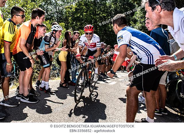 Markel Irizar in his last race as a professional cyclist at the Clásica San Sebastián, Basque Country, Spain
