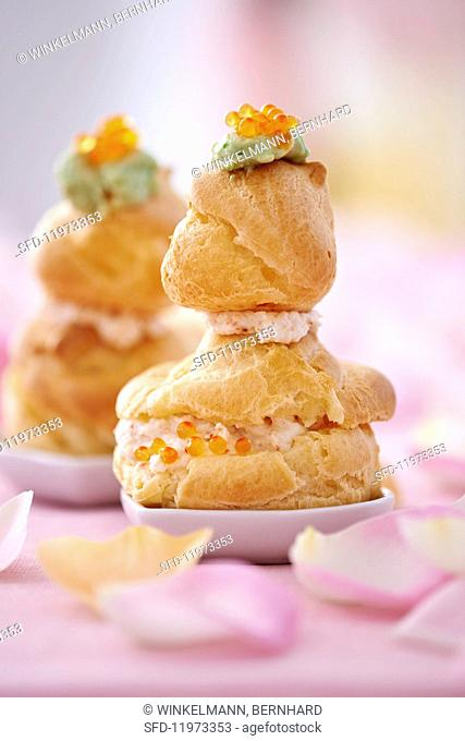 Religieuse (profiterole filled with cream, France)