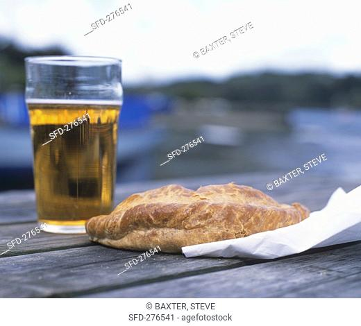 Cornish pasty and a glass of beer
