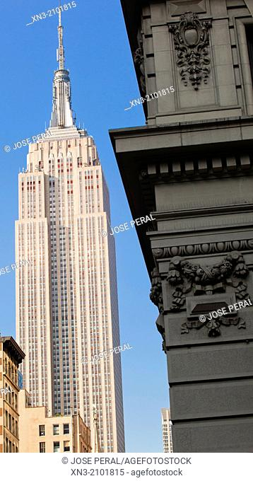 Empire State Building, Midtown, Manhattan, New York, New York City, United States, USA